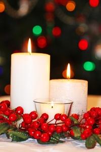 dekoracja bożonarodzeniowa, świeczki