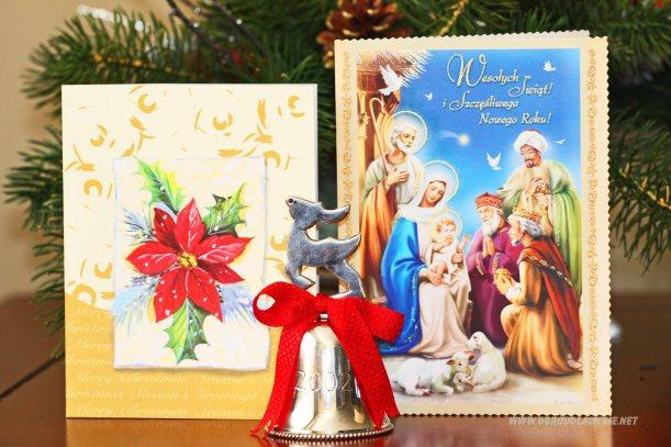 karty świąteczne, dekoracje bożonarodzeniowe