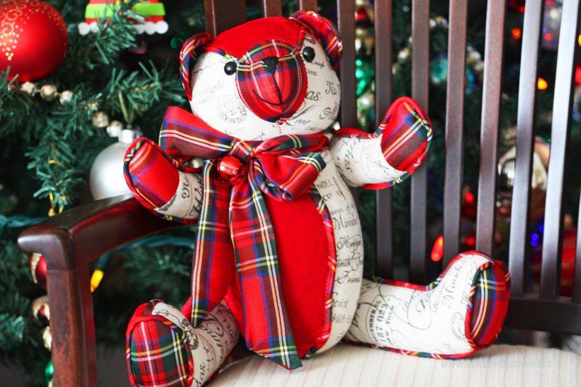 Świąteczny Miś, dekoracja bożonarodzeniowa