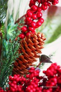 szyszka, zimowa dekoracja