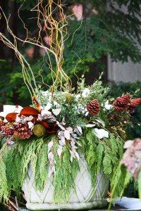 zimowa dekoracja do ogrodu