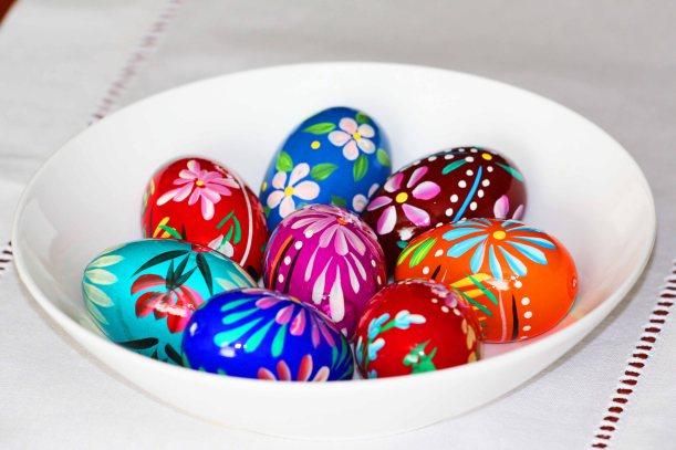 ręcznie malowane jajka